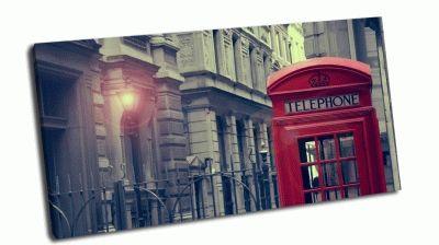 Картина красная английская телефонная будка
