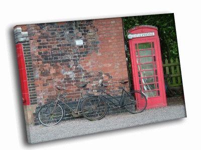 Картина красная телефонная будка
