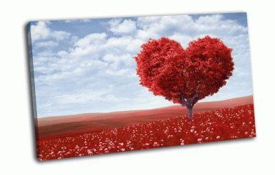 Картина красное дерево любви