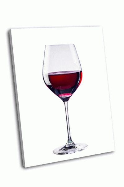 Картина красное вино в бокале