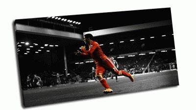 Картина красный футболист