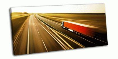 Картина красный грузовик