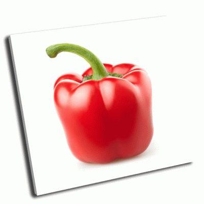 Картина красный перец на белом фоне
