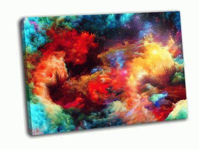 Картина красочные фрактальные огни