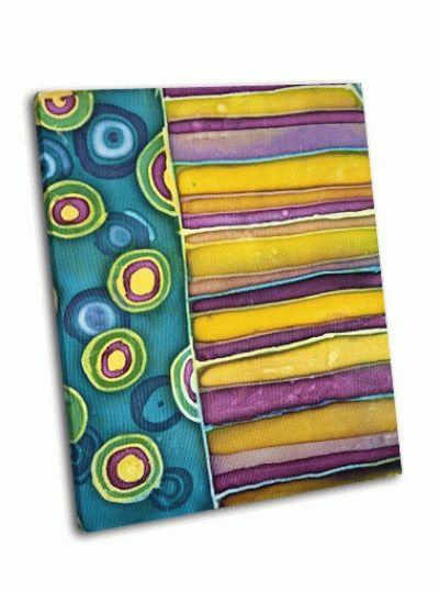 Картина красочные текстуры-батик