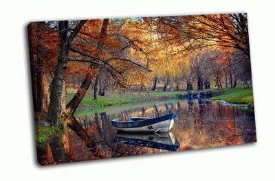 Картина красочный осенний пейзаж