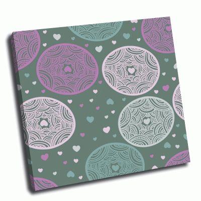 Картина круги, орнамент и сердечки
