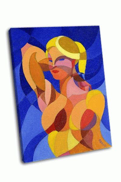 Картина кубистический портрет девушки