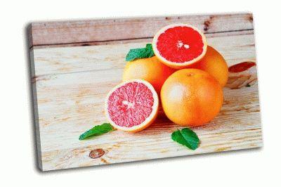 Картина куча спелых грейпфрутов
