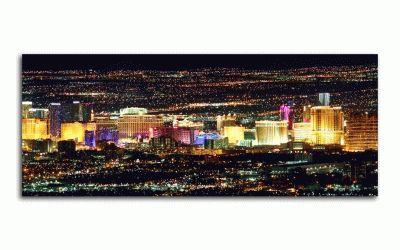 Картина лас-вегас в ночное время