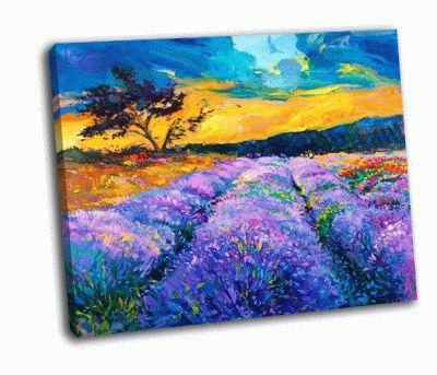 Картина лаванда полей на холсте