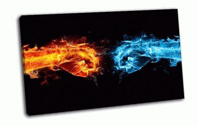 Картина лёд  и пламя