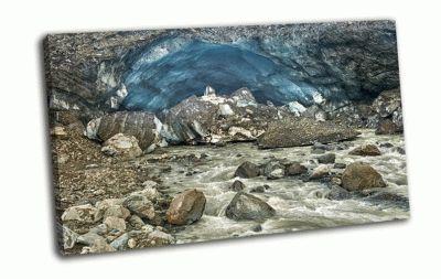 Картина ледниковые пещеры в исландии