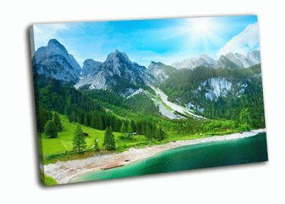 Картина летние альпийские горы