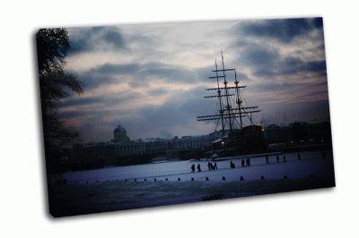 Картина летучий голландец зимой