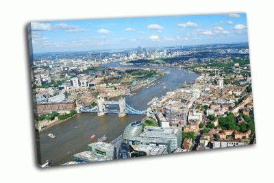 Картина лондон и река темза сверху