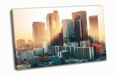 Картина лос-анджелес на закате