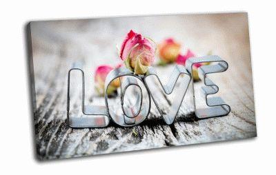 Картина love надпись