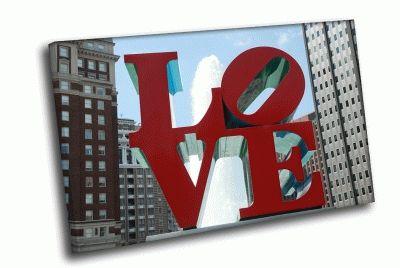 Картина love памятник