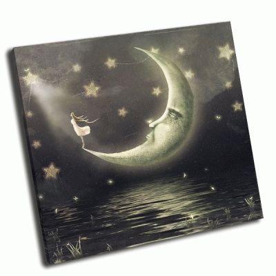 Картина луна и звезды