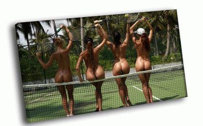 Картина любительницы большого тенниса