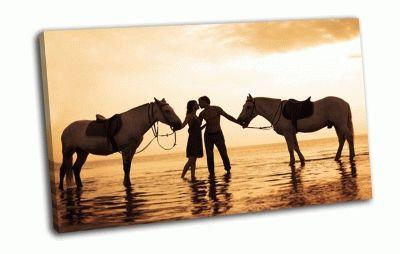 Картина любовь и лошади