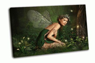 Картина маленькая фея на камне