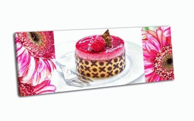 Картина малиновый торт