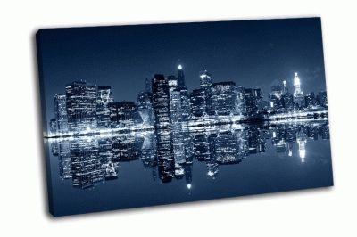 Картина манхэттен ночью
