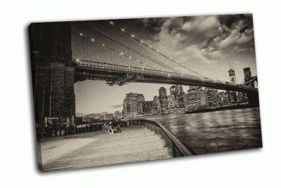 Картина манхэттен с востока река