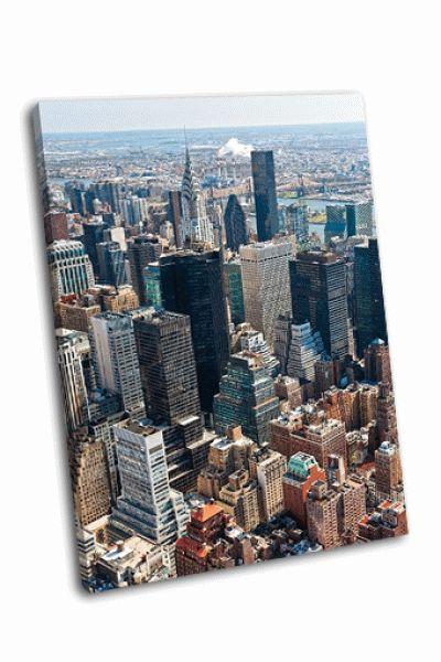 Картина манхэттен в нью-йорке сша