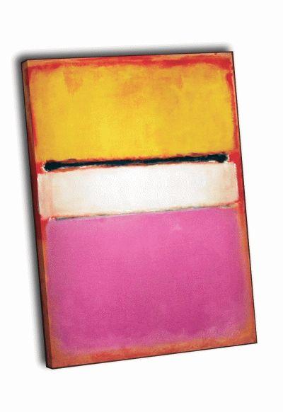 Картина марк ротко - желтое, розовое, лиловое