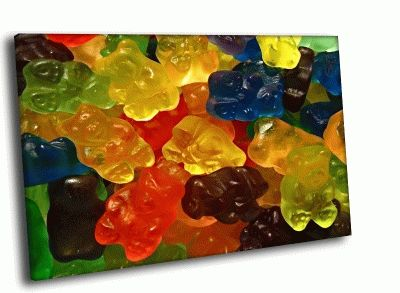 Картина мармеладные медведи