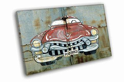 Картина машина на гараже
