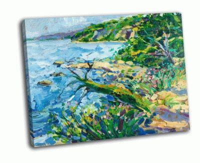 Картина масляная живопись, побережье