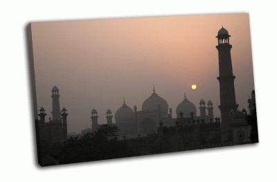 Картина мечеть бадшахи в лахоре
