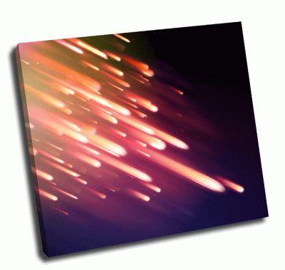 Картина метеоритный дождь в ночи
