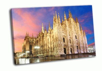 Картина миланский собор, италия