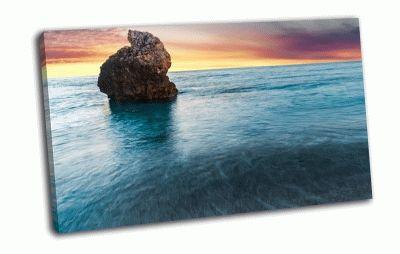 Картина милош пляж, острова лефкада, греция