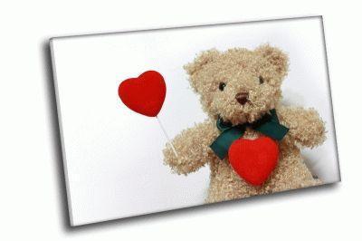 Картина мишка с сердечком