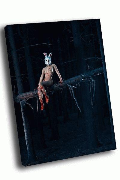 Картина мистическая девушка-заяц в крови