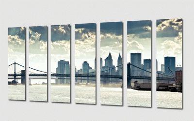 Картина модульная картина для офиса. манхэттенский мост
