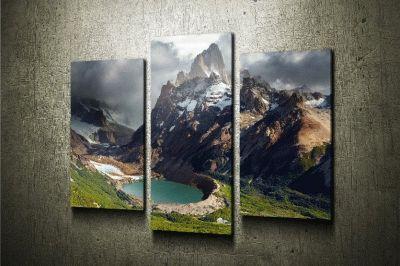 Картина модульная картина горы. лос-гласиарес