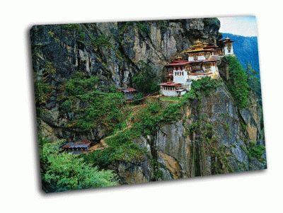 Картина монастырь в гималаях