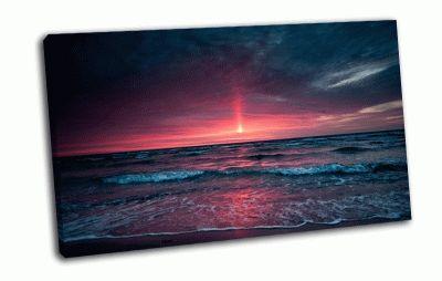 Картина море и закат