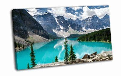 Картина моренные озера, национальный парк банф
