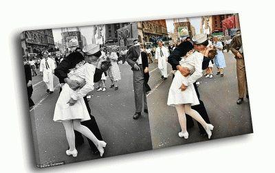 Картина моряк целует медсестру на тайм сквер
