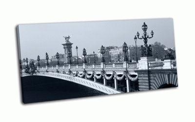 Картина мост александра iii через  сену в париже