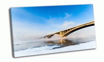 Картина мост через енисей, красноярск