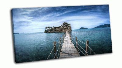 Картина мост на остров